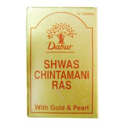 Dabur Shwas Chintamani Ras (With Gold)