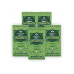 Organic India Tulsi Green Tea- Pack Of 5